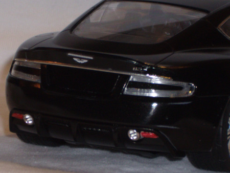 1/24 scale Aston Martin DBS from Tamiya kit, rear view