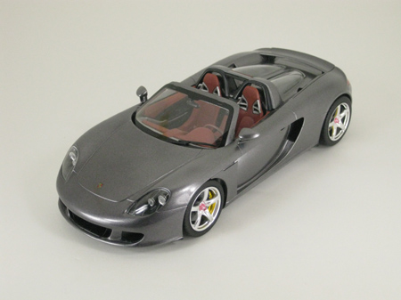 Completed Porsche Carrera GT model car, three quarter view
