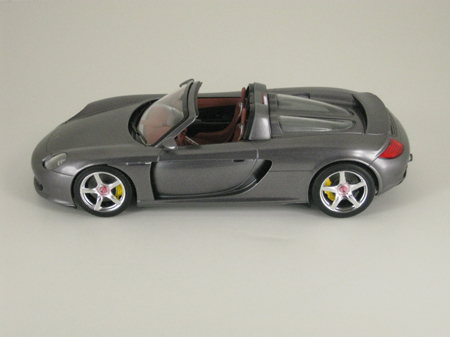 Completed Porsche Carrera GT model car, side view