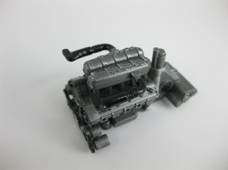 model car engine after dry brushing, part 1
