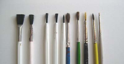 paint brush assortment