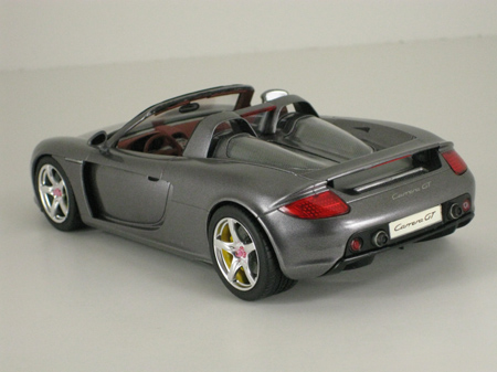Completed Porsche Carrera GT model car, rear view