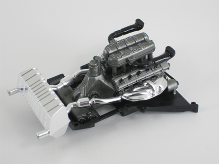 model car engine after dry brushing, part 3