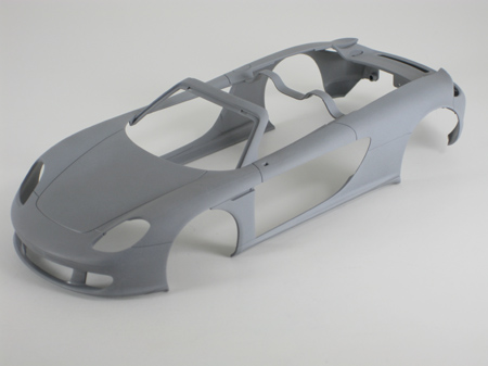 model car body after sanding