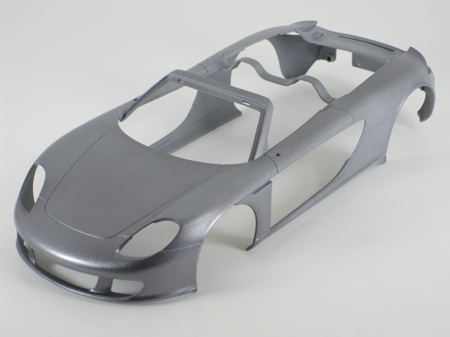 model car body after first mist coat