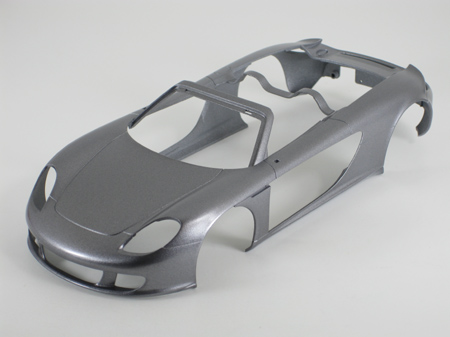 model car body after second mist coat