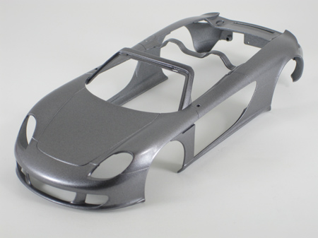 model car body after first wet coat
