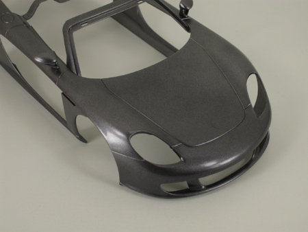 model car body after clear coat