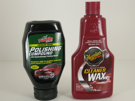 polish and wax for model car